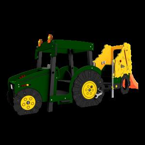Tractor met hooiwagen Groen BBI.503.KP-062