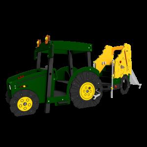 Tractor met hooiwagen Groen BBI.503.KR-062