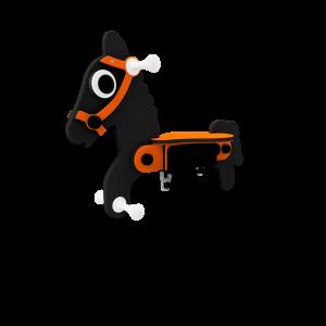 Federwippe Pferd Black Beauty BBIE705