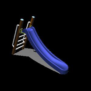 Freistehende Rutsche mit Griff H1.5 BBPE020.3HP
