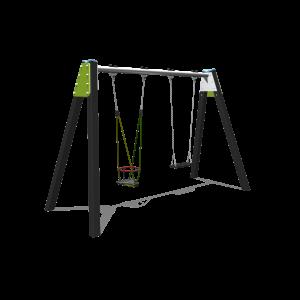 Double balançoire avec 1 siège gam H2.12 BBPE030.4K