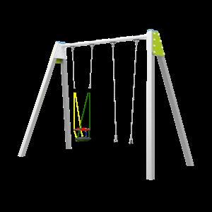 Double balancoire avec siege gamin H2.5 BBPE034.4R