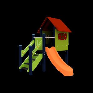Spielhaus Nora (mit Flache Treppe) BBPE061.0A