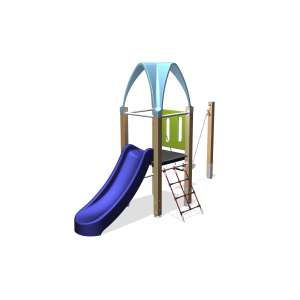 Kletteranlage 1 Turm / 1 Dach BBPE120.2GP