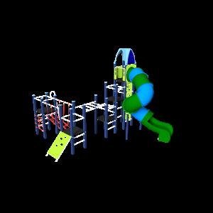 Kletteranlage mit Röhrenrutsche BBPE312.0AP