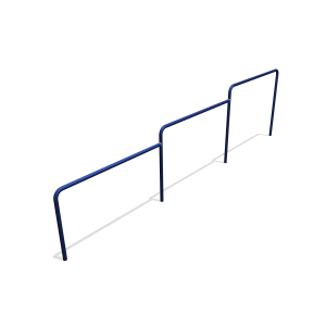 Duikel trio RAL5002 H1.22-1.02-0.82 CSP.224.502