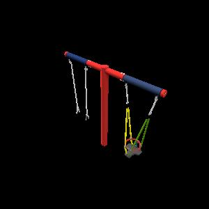T-schommel Antiwrap rood/blauw CSP.441.001