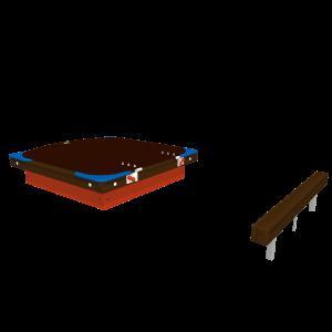 Sandpit Junior with lid DRME025.006