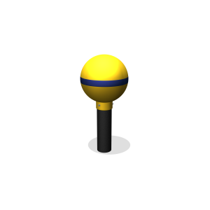 leapfrog post yellow JGPE407.123