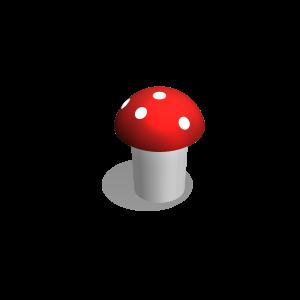 Toadstool H=35cm, Ø=45cm MNPE101.003