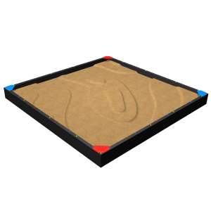 Zandbak met 4 hoekzitjes 5.0x5.0x0.5 MNP.255.006