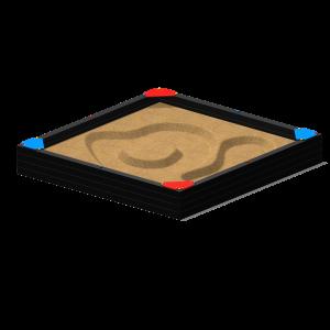 Zandbak met 4 hoekzitjes 2.9x2.9x0.5 MNP.255.014