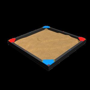 Zandbak Rebo met zitjes 2.7x2.7x0.3 MNP.255.024