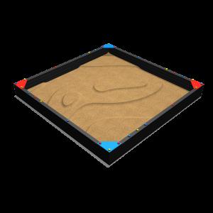 Zandbak met 4 hoekzitjes 4.0x4.0x0.4 MNP.255.031