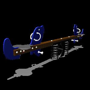 Federwippe Delphin mit Schwarze Federn MNPE744.002