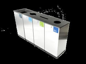 Afvalbak Edge Bio Waste RVS P.412.800.5C