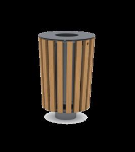 Paseo afvalbak - ET havana Ø 50 cm - H=76 cm P.885.110.E
