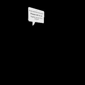 Social Speech Bubble English PKNE001.E90