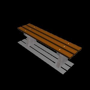 Basic I Bank beton/hout PKN.040.060