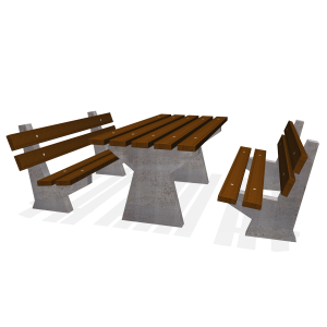 Basic V picknickset 2 banken L PKN.040.073