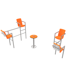 Chairish LED - 4 stoelen PKN.047.10P