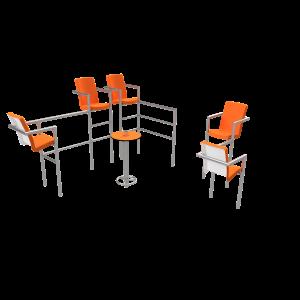 Chairish LED - 5 stoelen PKN.047.12P
