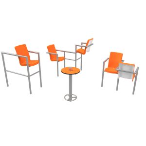 Chairish LED - 5 stoelen PKN.047.13P