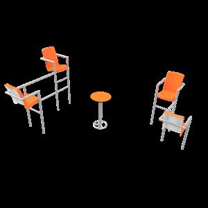 Chairish zonder led- 4 stoelen PKN.048.10P