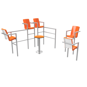 Chairish zonder led -5 stoelen PKN.048.12P