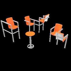 Chairish zonder led- 5 stoelen PKN.048.13P