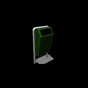 Afvalbak Capitol Groen (incl. stndr & poer) PKN.210.011
