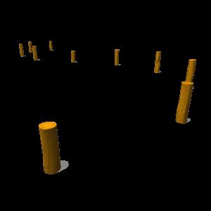 Bokspringpaal 60-90cm (10 st) PST.000.063
