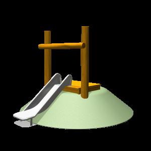 Hangrutsche 59cm mit Joch PSTE000.267