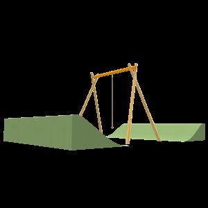 Pendula swing with hillside PSTE000.416