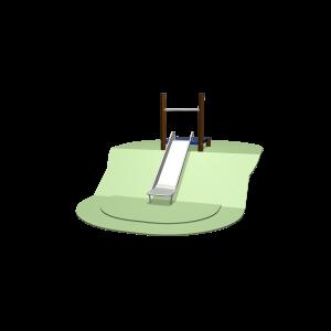 Hügelrutsche 97 - 127cm mit Plattform SOLE030.192