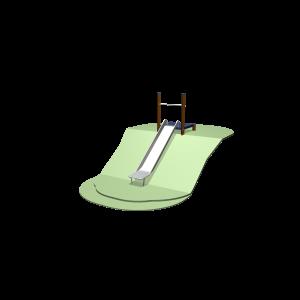 Hügelrutsche 131 - 161cm mit Plattform SOLE030.193