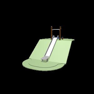 Taludrutsche 165 - 195 cm mit Plattform SOLE030.194