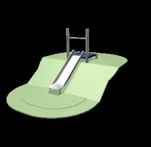 Hügelrutsche 97 - 127cm mit Plattform SOLE030.217