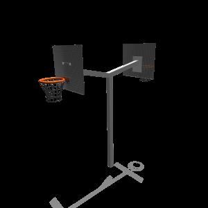 Basketbalpaal hoog/hoog  Staal SPT.020.182
