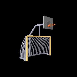 Maxigoal met basket+rob.frame SPT.ROB.415